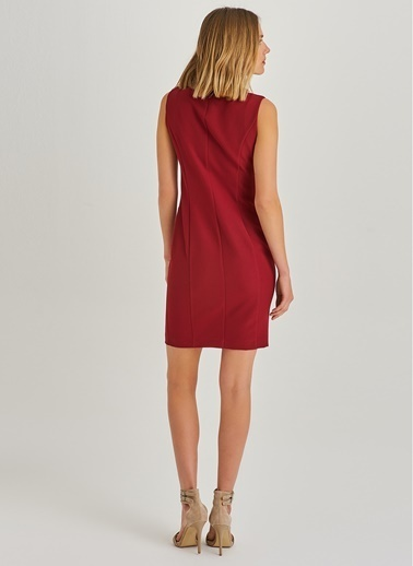 Toka Detaylı Kolsuz Elbise-People By Fabrika